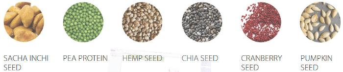 Sacha Inchi Seed, Pea Protein, Chia Seed